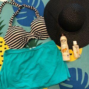 Teal Swim Skirt